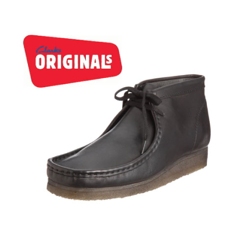 be2fab82fab Clarks Originals Wallabee Boot in Black Leather