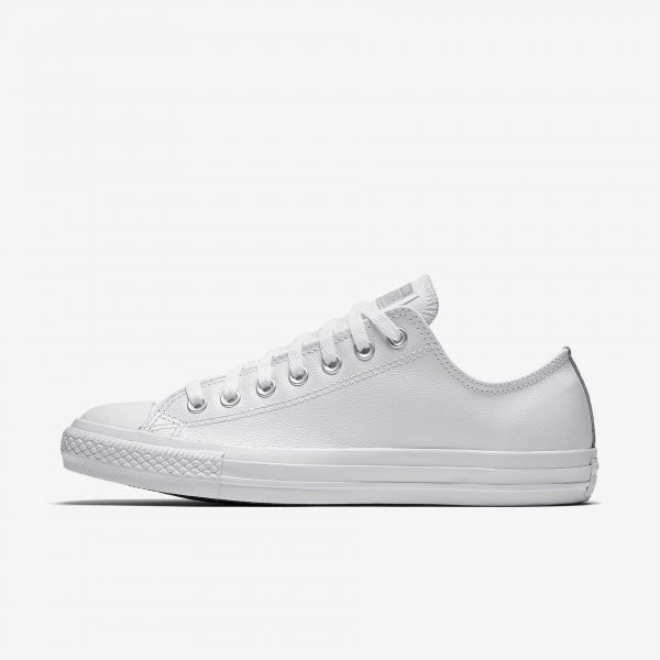 3e0a8d66ce98 CONVERSE Chuck Taylor All Star White White Leather OX