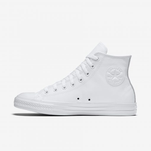 CONVERSE Chuck Taylor All Star White Mono Leather Hi Top